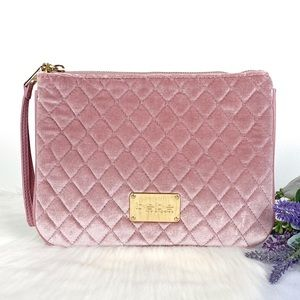 bebe Danielle Quilted Blush Wristlet
